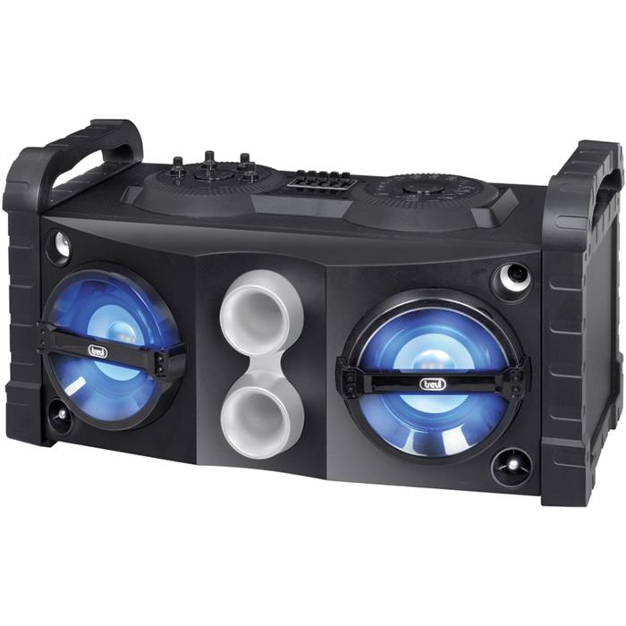 DIFFUSORE TREVI XF 700 AMPLIFICATO RADIO,MP3, BLUETOOTH,USB,AUX IN,INGRESSI MICROFONICI IDEALE PER KARAOKE 50 WATT