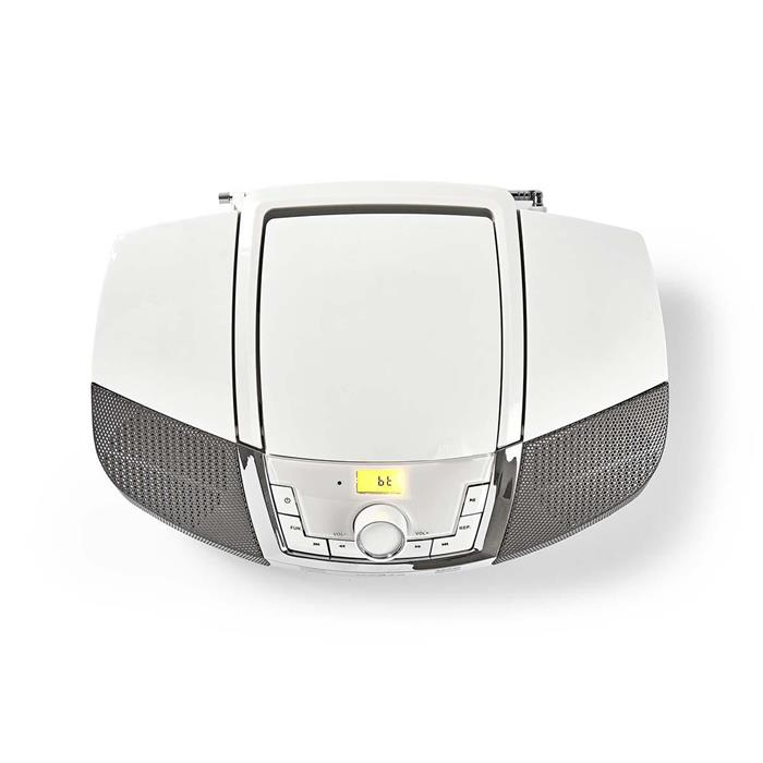 COMPATTO HOME NEDIS SPBB200WT 12 W | Bluetooth®: | Lettore CD MP3/Radio FM/USB/Aux | Bianco
